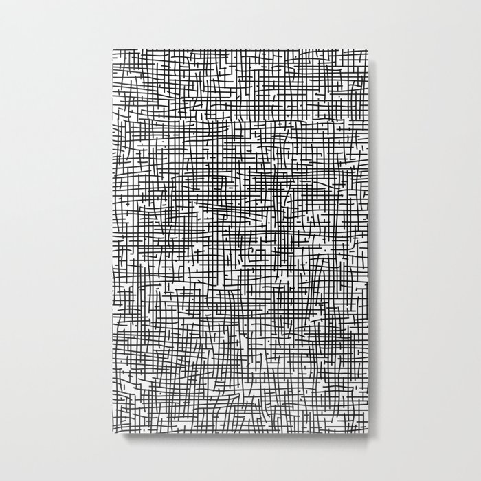 Crosshatch Metal Print