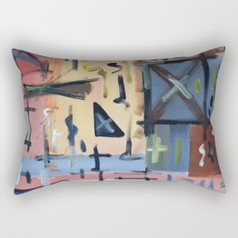 Colourful Chaos Rectangular Pillow