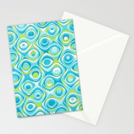 Elegant Abstract in Teal and Green Stationery Cards