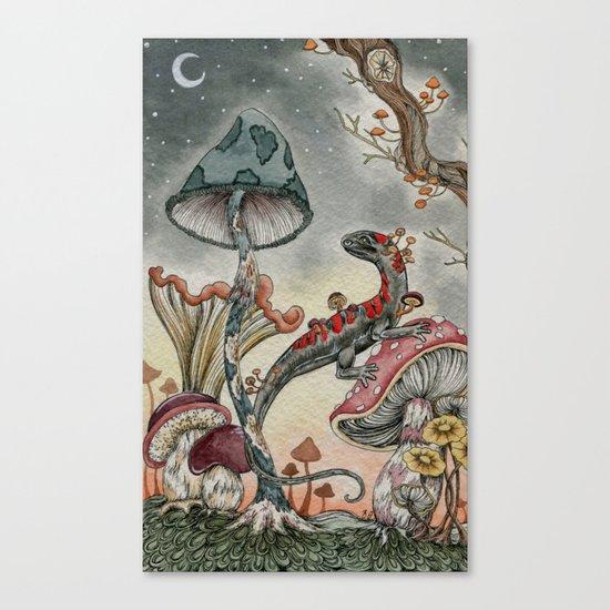 Mushroom Moon Canvas Print