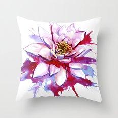 Bleeding Lotus Throw Pillow