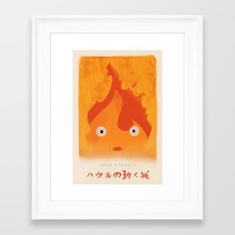 Howl's Moving Castle - Calcifer Print, Miyazaki, Studio Ghibli Framed Art Print