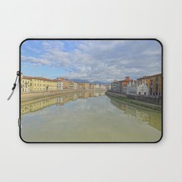 Colorful old houses in Pisa, Tuscany, Italy Laptop Sleeve