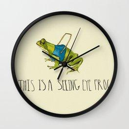 Seeing Eye Frog Wall Clock
