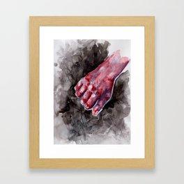 Hold. Framed Art Print