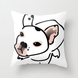 French Bulldog Pup Drawing Throw Pillow