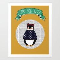Time For Hugs Print Art Print