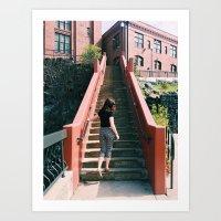 City Stairs Art Print