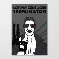 terminator Canvas Prints featuring TERMINATOR by Javi Medina