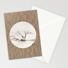 Scots Pine Paper Bag Sepia Stationery Cards