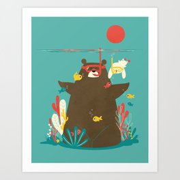 Snorkelling Art Print
