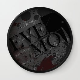 "Quoth the Raven, ""Nevermore."" Wall Clock"