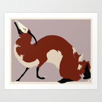 wild things Art Prints featuring Wild Things by Artistic Oddities