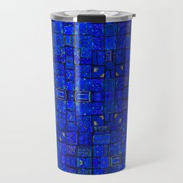 Deep Calm Blue Oriental Berber Traditional Moroccan Texture Design  Travel Mug