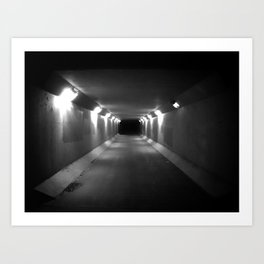 no light at the end of the tunnel Art Print