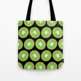 Kiwi Pattern     Black Background Tote Bag