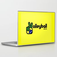 volleyball Laptop & iPad Skins featuring Volleyball Brazil by Skylar 83