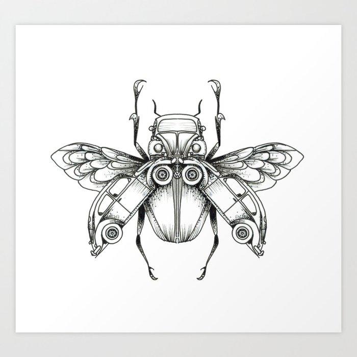 Beetle-Beetle Art Print