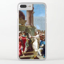 Giovanni Battista Pittoni The Sacrifice of Polyxena Clear iPhone Case