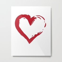 Heart Shape Symbol Metal Print