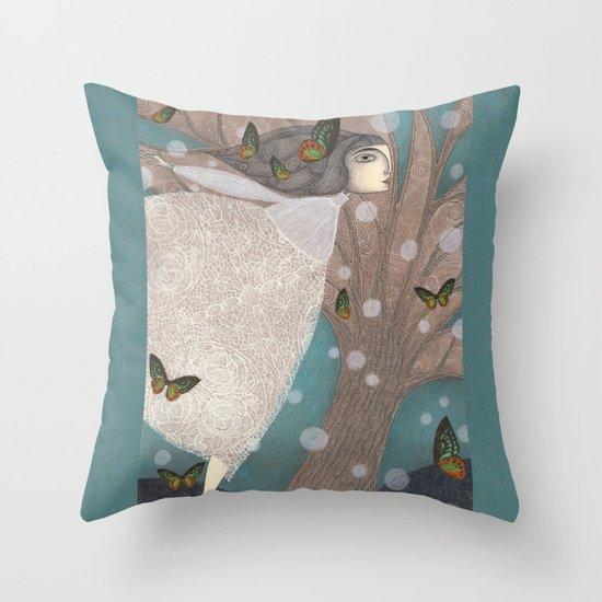 Finding Winter Throw Pillow
