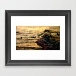 Sunset Wave Framed Art Print