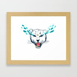 leopard tears Framed Art Print