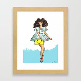Beach girl Framed Art Print