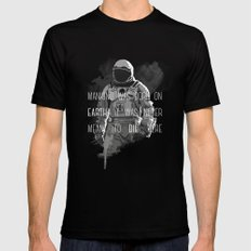 interstellar LARGE Black Mens Fitted Tee
