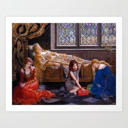 rowan blanchard + john collier Art Print
