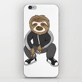 Cute Sloth Squatting Like A Slav iPhone Skin