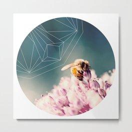 Bee Calm Metal Print