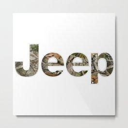jeep camo Metal Print