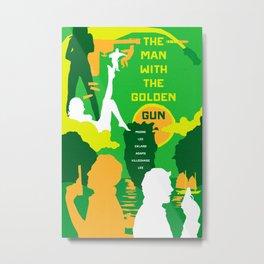 James Bond Golden Era Series :: The Man with the Golden Gun Metal Print