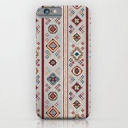 Caucasian Rugs(Stripe) - White iPhone Case