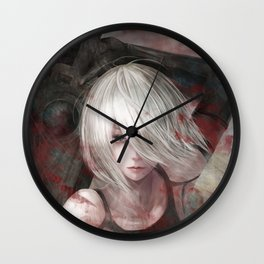 Nier Automata Blood Wall Clock