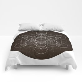 Metatrons Cube Is Out Of Space Comforters