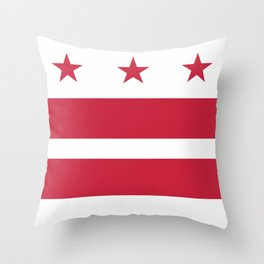 Washington D.C.: Washington D.C. Flag Throw Pillow
