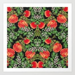 Floral Tomato Art Print