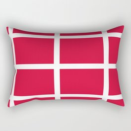 abstraction from the flag of denmark Rectangular Pillow