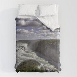 Gulfoss in Crystal Ball 1 Comforters