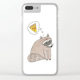 Pizza Dreams Clear iPhone Case