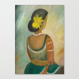 After the dance - Sri Lankan dancing girl Canvas Print