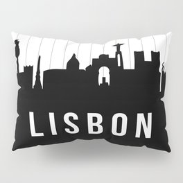 Lisbon Skyline Pillow Sham