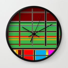 Stripes make a pattern Wall Clock