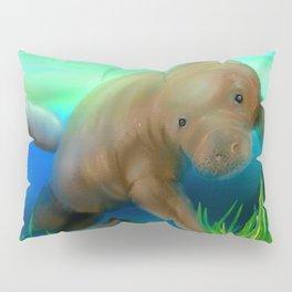 Manatee Illustration Pillow Sham