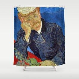 Vincent Van Gogh - Portrait of Dr Gachet Shower Curtain