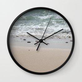 Seashore Sandpipers in tideland Wall Clock