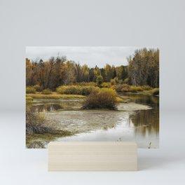 Snake River near Cattleman's Bridge Site Panoramic -  Grand Tetons Mini Art Print