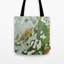 Green Bark Tote Bag